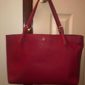 100% Authentic Tory Burch Red York Buckle Tote